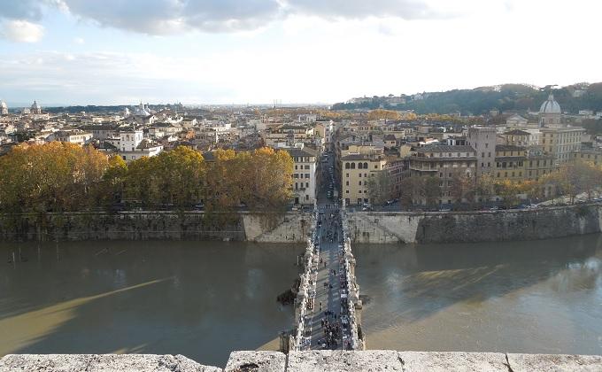 yuローマサンタンジェロ城からの眺め