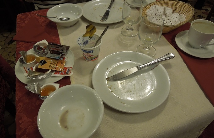 yuベネチア朝食完食