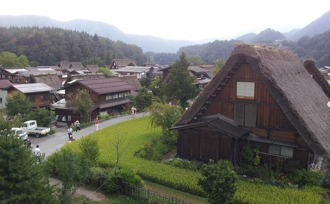 yu白川郷の重要文化財からの眺め