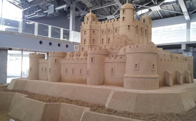 yu砂の美術館の中の城