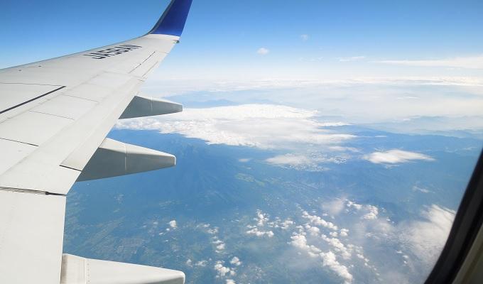 yu飛行機からの眺め