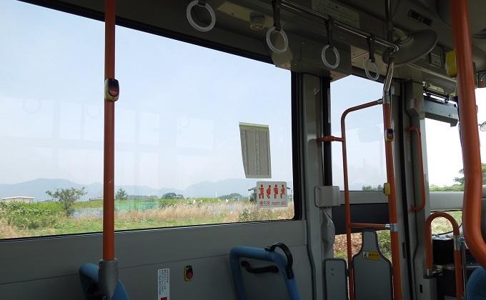 yu鬼太郎バスの中からの眺め