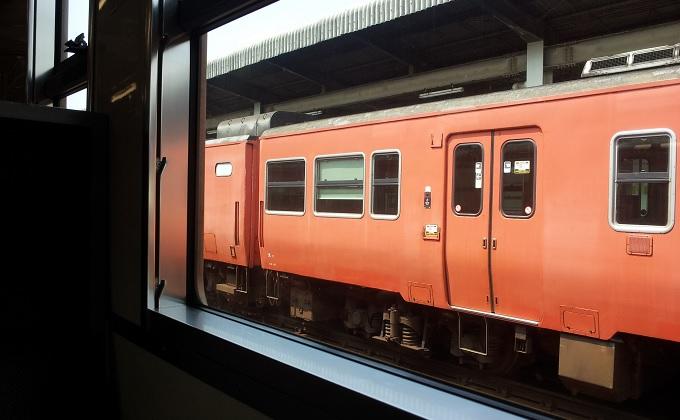 yu鳥取駅の電車内