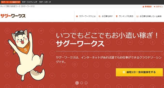 サグーワークスのホームページ画像