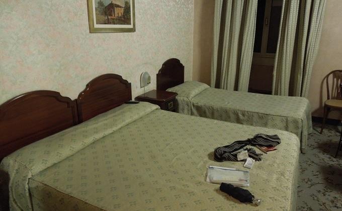 yuフィレンツェのホテルの部屋