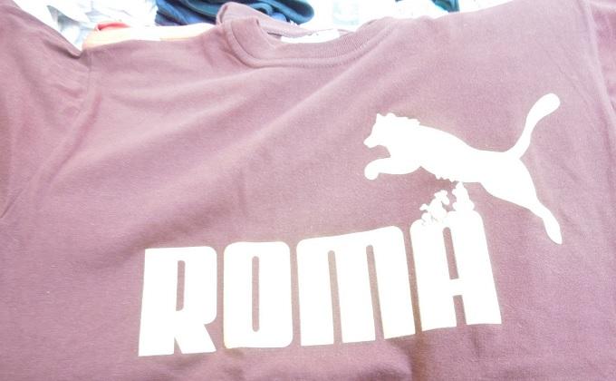 yuローマパロディTシャツ