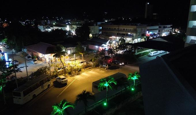yuサイパンホテルからの夜の眺め