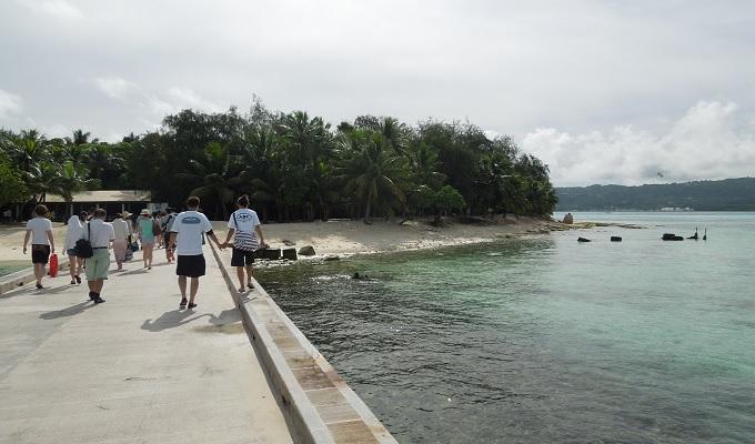 yuサイパンマニャガハ島の様子