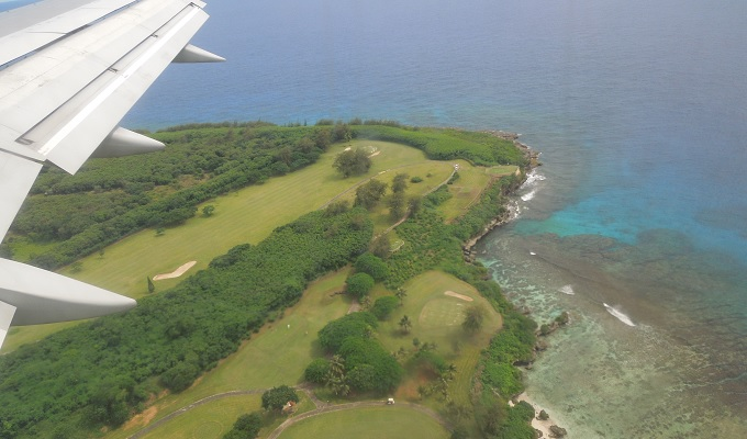 yuサイパン行き飛行機からの眺め