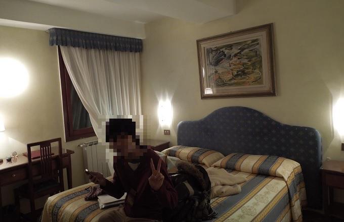 yuベネチアホテル部屋の様子