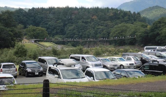 yu白川郷の駐車場