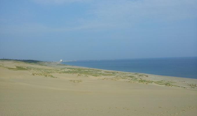 yu砂丘と日本海