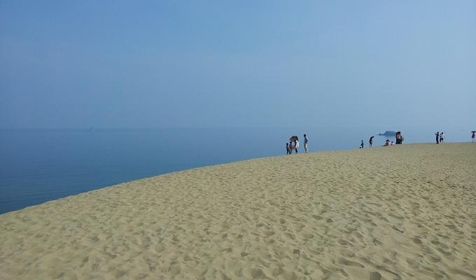 yu砂丘の丘の上