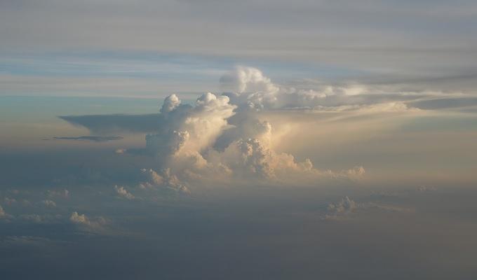 yu鳥取から乗った飛行機からの眺め