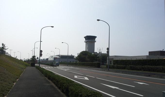 yu鳥取空港が見えてきた